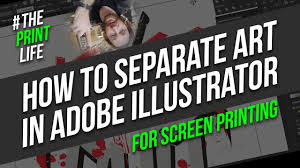 Illustrator For Screen Printers Design Tutorial How To Create Spot Solor Separations In Adobe Illustrator