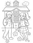 Дети школьники раскраски