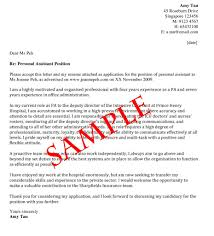 Personal Assistant Cover Letter Sample Tomyumtumweb Com