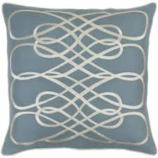 slate and beige leah pillow by gluckstein home for surya