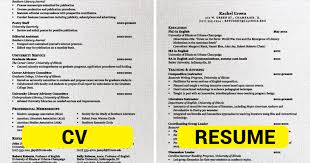 Cv Vs Resume Stunning Resume Curriculum Vitae Difference Canreklonecco