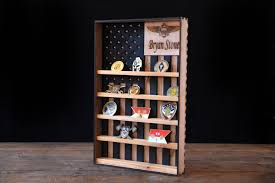hanging wood military coin holder engraved military coin holder coin holder shelf collectables shelf american flag display