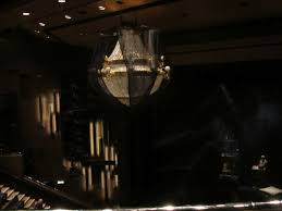 as you can see from the picture of the chandelier the set design is slightly diffe the chandelier is not well covered but the ushers weren t shouting