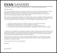 retail team leader cover letter sample retail covering letter