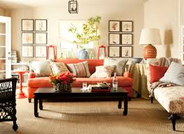 Orange Bedroom Furniture Color Your Life With An Orange Living Room
