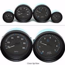 yamaha outboard gauges. teleflex boat gauge set | vector series black (4 piece) yamaha outboard gauges