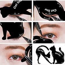 amazon ecosin 2pcs women cat line pro eye makeup tool eyeliner stencils template shaper model cat eye card beauty