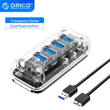 <b>ORICO 4 7 Port</b> Transparent Series USB 3.0 HUB Multi High Speed ...