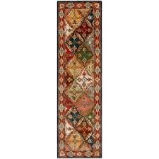 heritage green red 2 ft x runner rug safavieh handmade timeless traditional blue wool