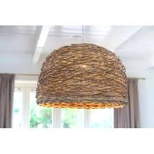 decoration woven lamp grey basket ceiling pendant light small wicker drum shade uk