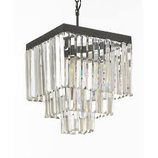 retro odeon crystal glass fringe 3 tier chandelier view full size