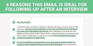 the perfect interview follow up letter  insider