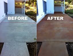 reoving stained concrete patio
