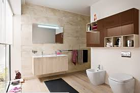 modern bathroom wall cabinets. Contemporary Cabinets Fresh Modern Bathroom Design With Sleek Brown Glass Wall Cabinet Over One  Piece Flush And Urinal Intended Cabinets A