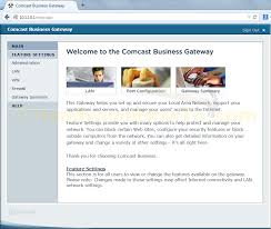 how to configure a comcast business class static ip address comcast business ip gateway feature settings