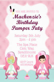 Details About Personalised Pamper Party Manicure Pedicure Birthday Party Invites Envs W9