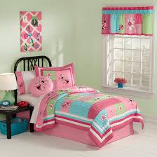 Ladybug Bedroom Pink Green Blue Ladybug Bedding Little Girls Twin Quilt Set