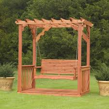 this is not a wooden patio swing but it could ve been
