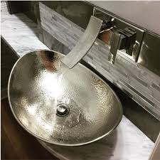 small vessel sinks. Make A Unique Statement With The Hobbes Nickel Vessel Sink. Small Sinks U