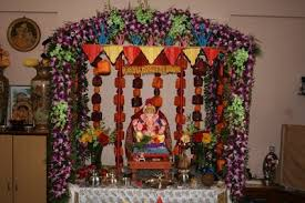 home ganapati decoration images eco friendly ganesh decorations ideas
