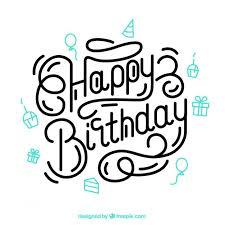 Letras De Cumpleaños Feliz Vector Gratis