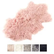 mongolian fur rug lamb throw rug mongolian fur rug white