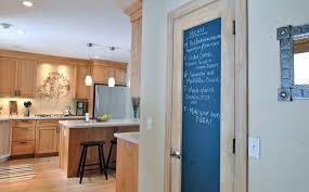Chalkboard door.