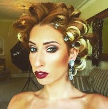 stacey solomon shows off 1920s make up on set of photoshoot make up