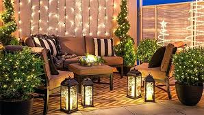 exterior deck lighting. Deck Lanterns Outdoor Lighting On Balcony With White String Lights Spiral Trees And Lighted . Lovable Exterior P