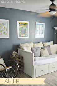 Paint Colors For Guest Bedroom Sherwin Williams Outerspace Guest Bedroom Paint Color Basement