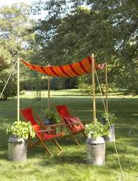 9 easy tent style awning with milk can anchors