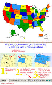 Usa Map For Powerpoint 2 Usa Powerpoint Map With 50 Editable States And Names Map