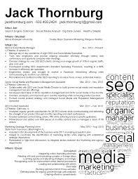 Marketing Search Engine Marketing Resume