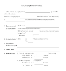 Work Contract Templates Fascinating Fixed Term Employment Contract Template Sample Fixed Term Contract