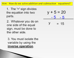 solving one step equations using addition and subtraction