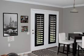 black plantation shutters. Contemporary Shutters Black Painted Plantation Shutters On The Back Doors On Plantation Shutters P