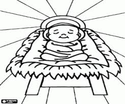 Kleurplaat Baby Jezus In De Kribbe Kleurplaten