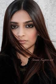 Sonam Kapoor. Long sleek brown straight Indian hair. Love the.
