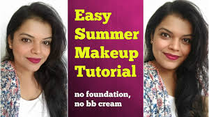 summer makeup tutorial for oily skin at home for beginners using affordable indian makeup in hindi