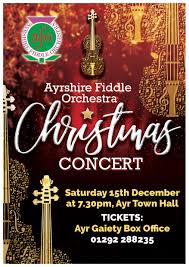 Christmas Concert Poster Afo Christmas Concert 2018 Ayrshire Fiddle Orchestra