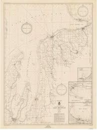 Lake Michigan Nautical Chart Amazon Com Grand Traverse Bay To Little Traverse Bay 1947