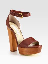 lyst stella mccartney faux leather and wooden platform sandals