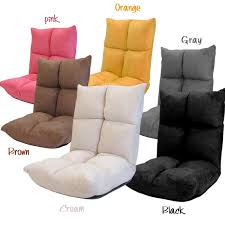 various colors of floor chairs
