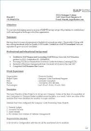 Sap Bi Sample Resume For 2 Years Experience Publicassets Us