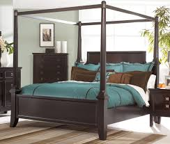 Romantic King Size Canopy Bed Frame — Bed and Shower