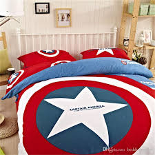 Marvel Avengers Bedding Cotton Captain America Duvet Set Sports