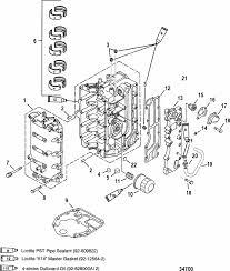 mercury marine 50 hp 4 stroke cylinder block parts engine section