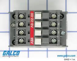2no 2nc contactor wiring diagram wiring diagram a9 22 00 84 abb ac non reversing iec contactors galco