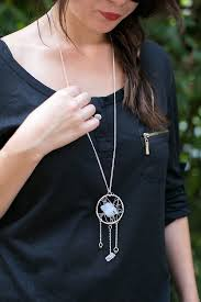 How To Make Dream Catcher Necklace Make a Statement Dreamcatcher Necklace with Stones and Wire 2