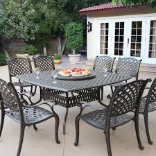 berkshirepatio nassau 8 person cast aluminum patio dining set with lazy susan antique bronze